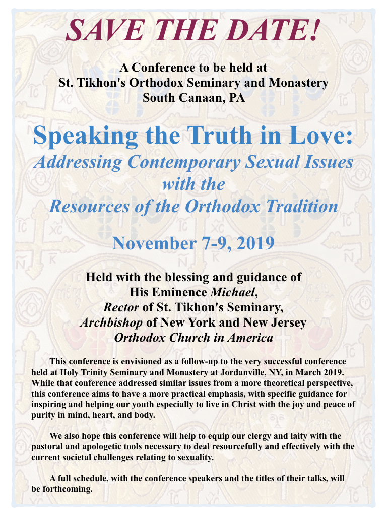 St  Tikhon's Orthodox Theological Seminary - Speaking the
