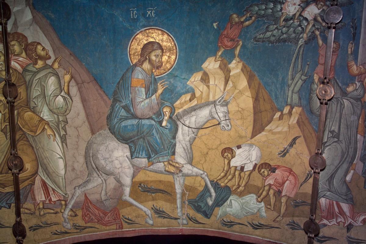 Palm Sunday, Orthodoxy (metto il Troparion, in inglese, non sono in grado di tradurre) dans immagini sacre palm-sunday-mosaic